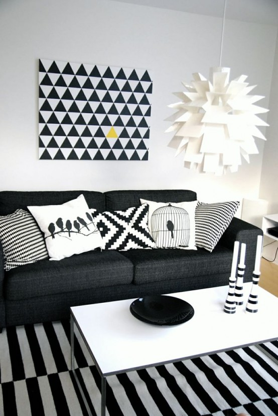 32 Stylish Geometric Décor Ideas For Your Living Room Part 66