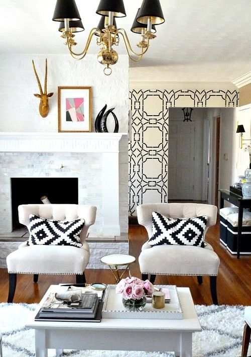 32 Stylish Geometric Décor Ideas For Your Living Room - DigsDigs