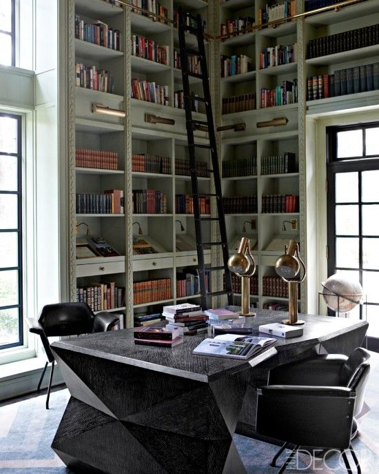 Home Office Decor For Private Impression: 27 Stylish Geometric Home Office Décor Ideas