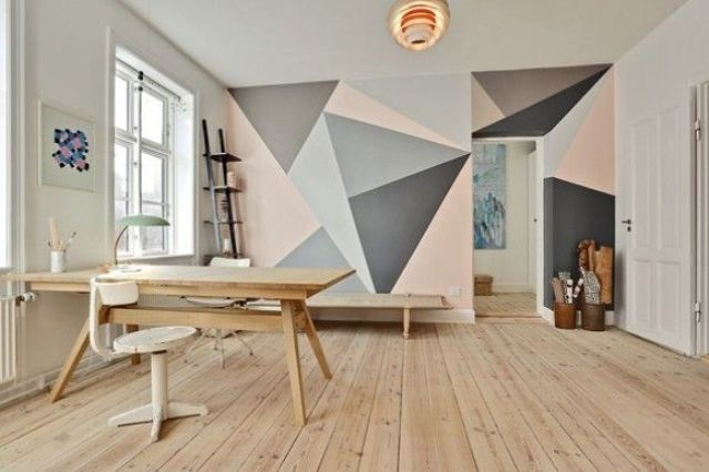 24 Stylish Geometric Wall D Cor Ideas Digsdigs