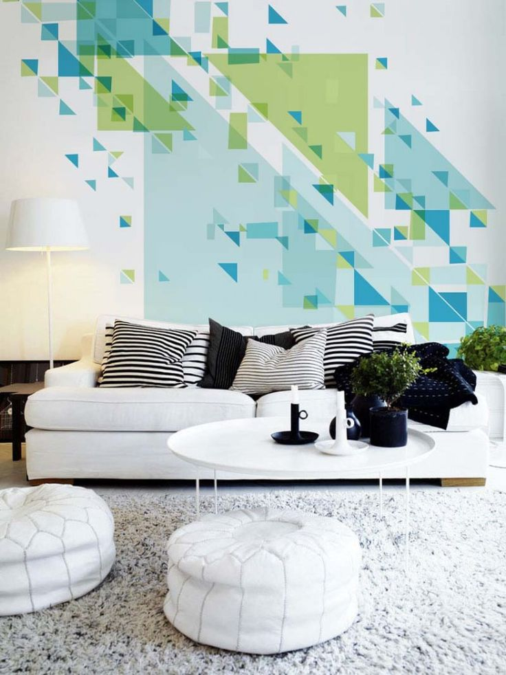24 stylish geometric wall d cor ideas digsdigs for Decoration murale ginkgo