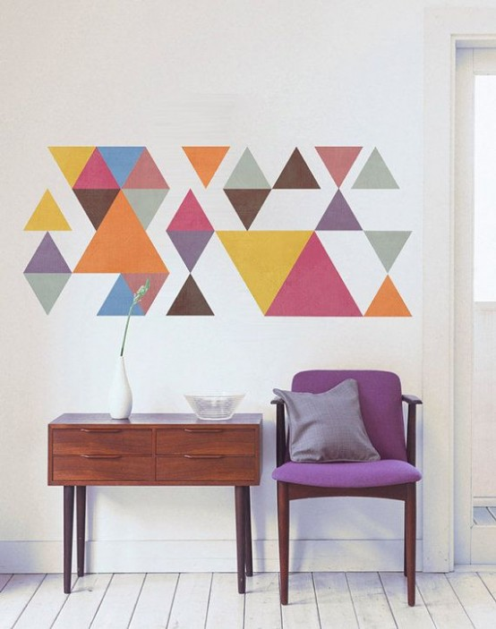 Geometric Design Wall Art : Stylish geometric wall d?cor ideas digsdigs