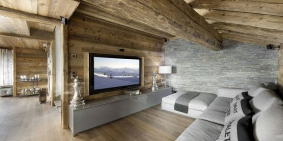 Stylish Hi Tech Ski Chalet In The French Alps