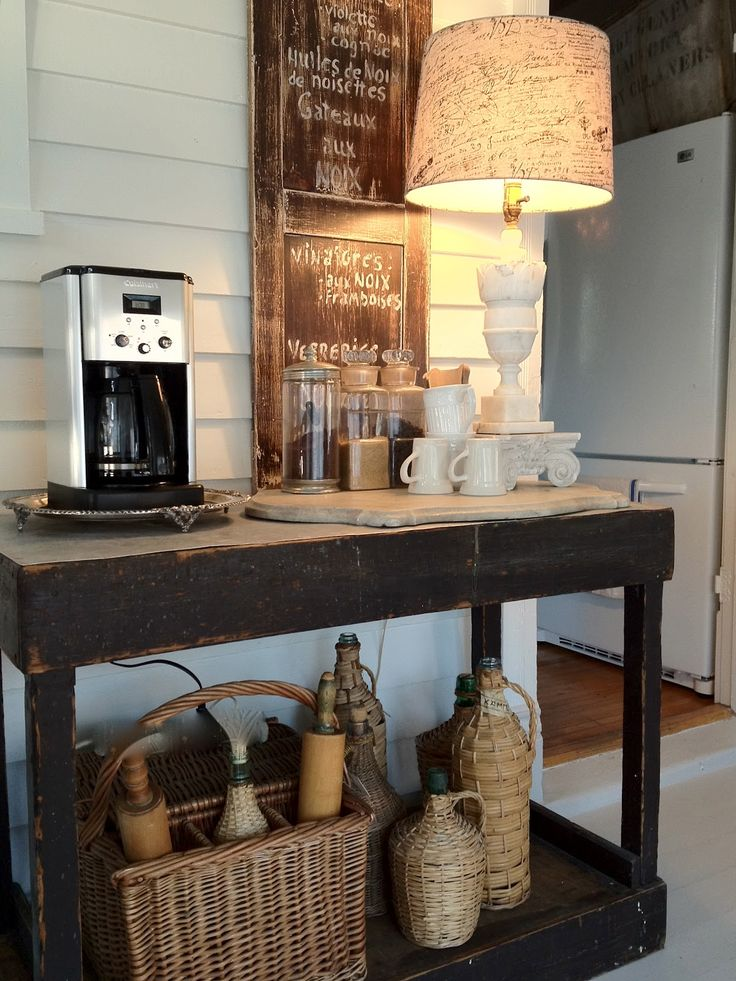 43 stylish home coffee stations to get inspired digsdigs for Coffee bar design ideas