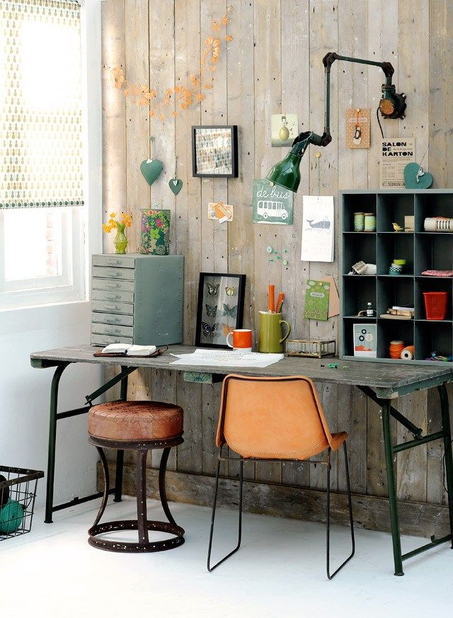 28 stylish industrial desks for your office digsdigs Industrial home office design ideas