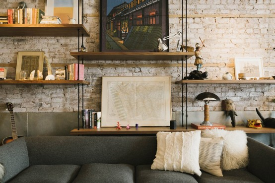 Stylish Industrial Loft With A Play Of Textures