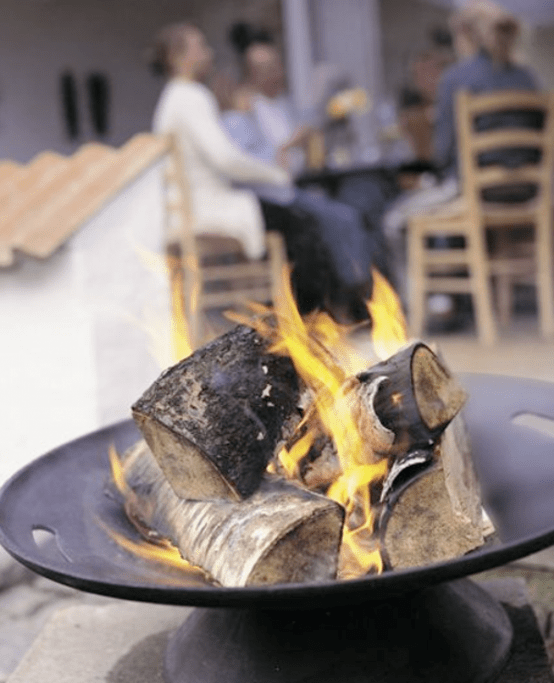Stylish Fire Iron Bowl For Outside