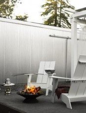 Stylish Iron Fire Bowl For Outside