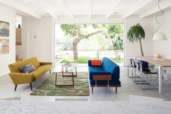Bright And Stylish Mid-Century Inspired House In Los Angeles