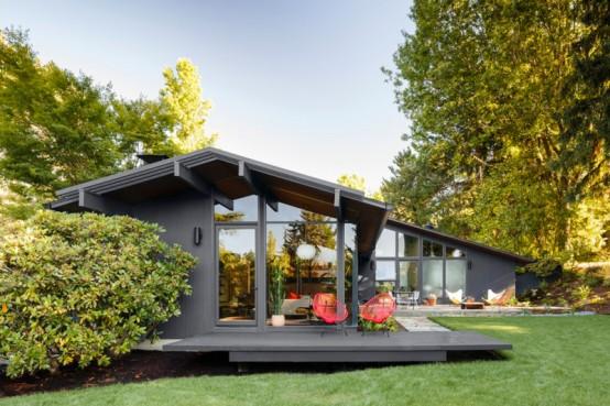 Stylish Mid-entury House With Warm-olored Wood Decor - DigsDigs - ^
