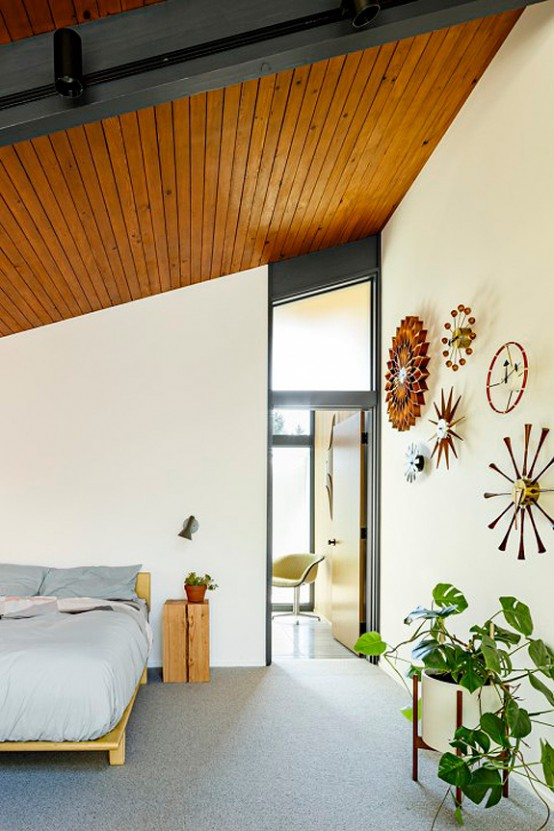 Stylish Mid Century House With Warm Colored Wood Decor Digsdigs