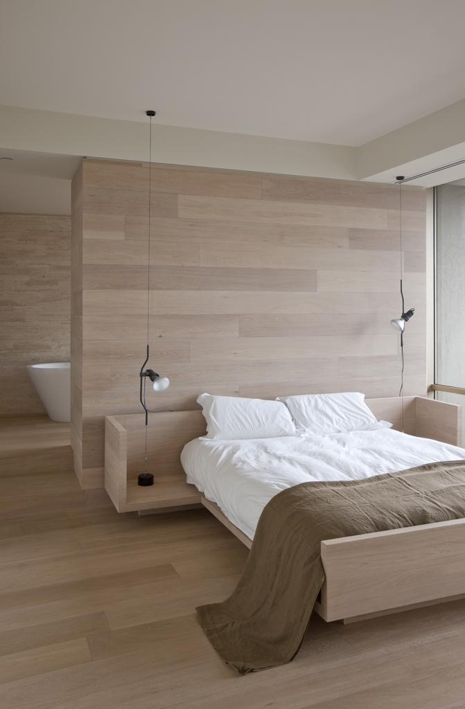 34 stylishly minimalist bedroom design ideas digsdigs for Minimalist bed design