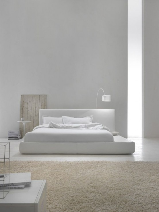 34 stylishly minimalist bedroom design ideas digsdigs for Minimalist house blog