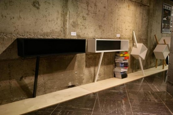 Stylish Minimalist Collection Of Shelves