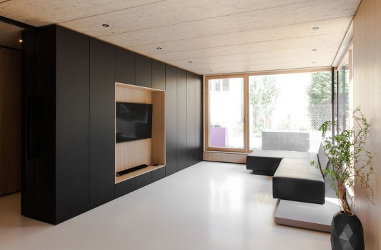 Stylish Minimalist Hjouse B With Smart Design And Timber Decor