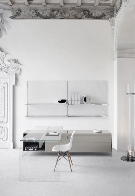 white office interior. delighful white stylish minimalist home office designs intended white interior