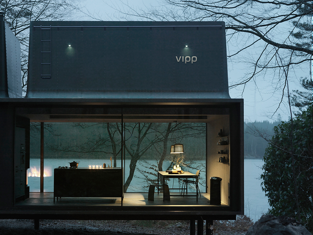 Stylish Minimalist Prefab Vipp Home In Dark Shades
