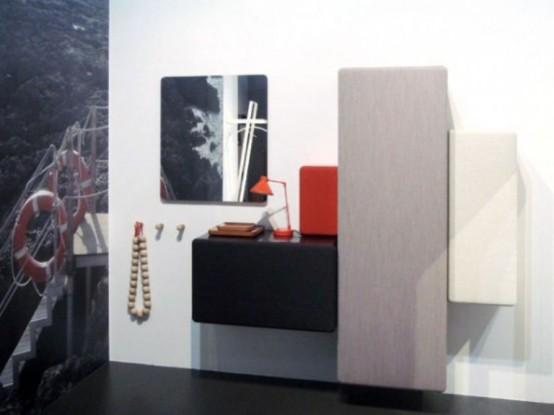 Stylish Modular Minimalist Hallway Storage System