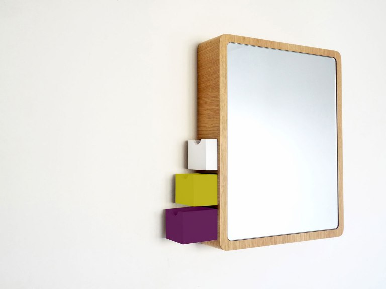 Stylish Bathroom Mirror With Built-In Drawers For Jewelry