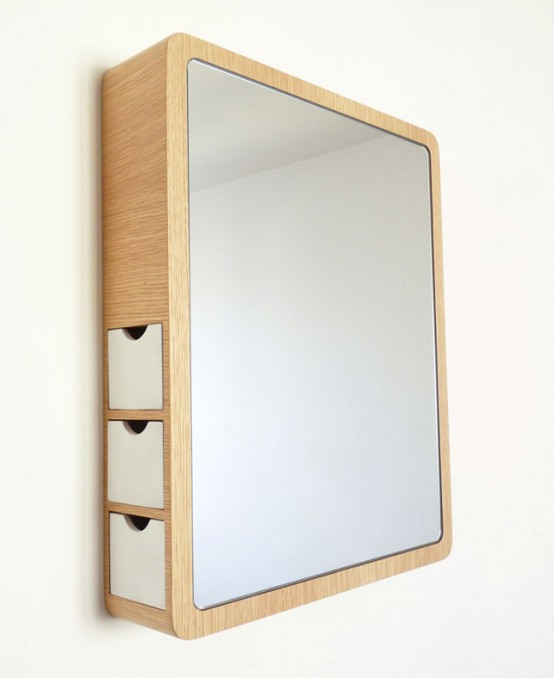 Stylish Mirror With Drawers For Jewelry
