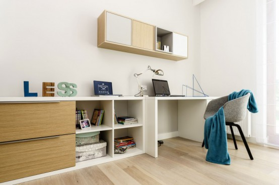 Stylish Modern Apartment With Bright Accents And Smart Storage