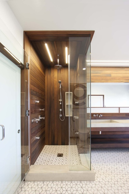 Stylish Modern Bathroom Renovation With Wood And Concrete