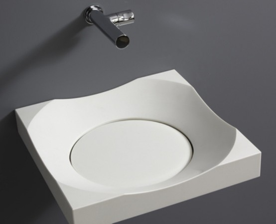 Stylish Modern Round Sink With No Drain