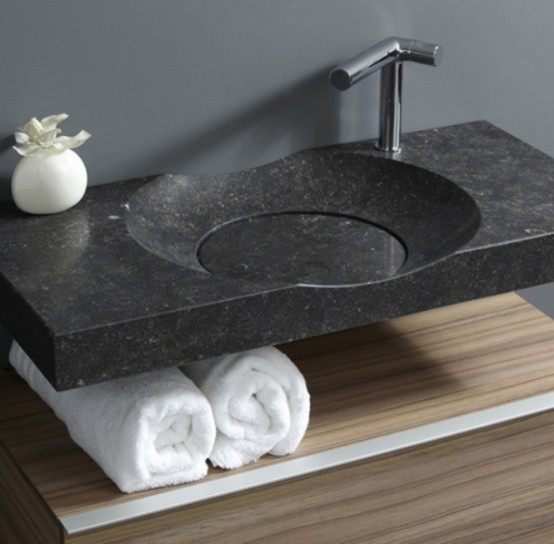 stylish modern round sink with no drain digsdigs. Black Bedroom Furniture Sets. Home Design Ideas