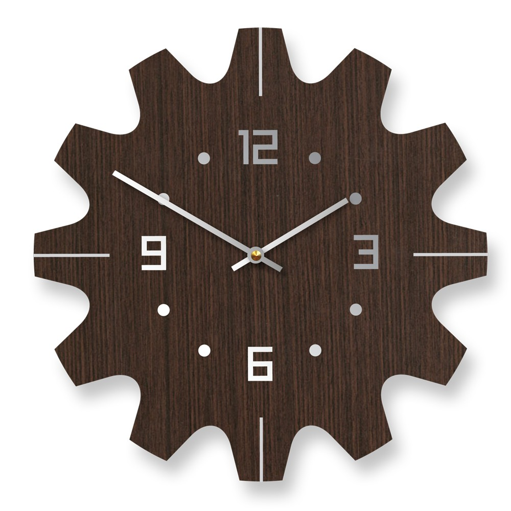 Wall Clock Designs For Home : Stylish wooden wall clocks with modern design digsdigs