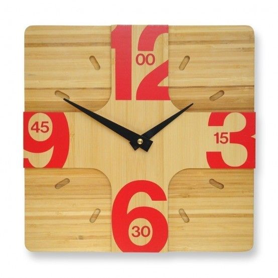 Stylish Wooden Wall Clocks With Modern Design