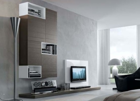 Modern Wall Units 32 stylish modern wall units for effective storage - digsdigs