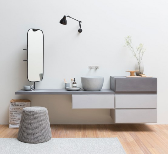 Stylish Modular Esperanto Bathroom Furniture Collection