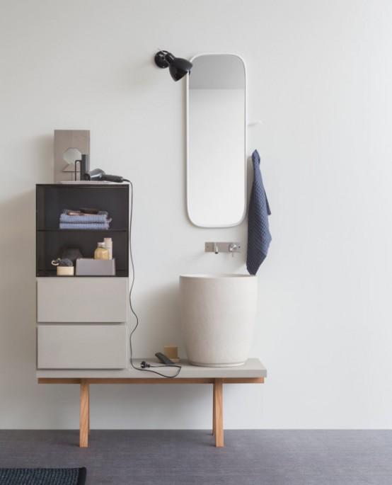 Stylish Modular Esperanto Bathroom Furniture Colleciton