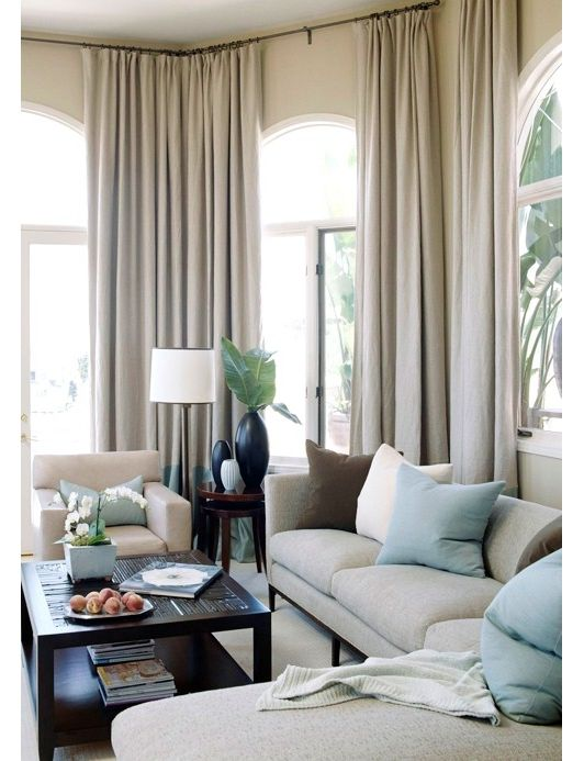 35 stylish neutral living room designs digsdigs for Accent colors for neutral rooms