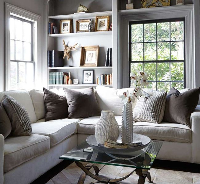 35 stylish neutral living room designs digsdigs for Black grey living room