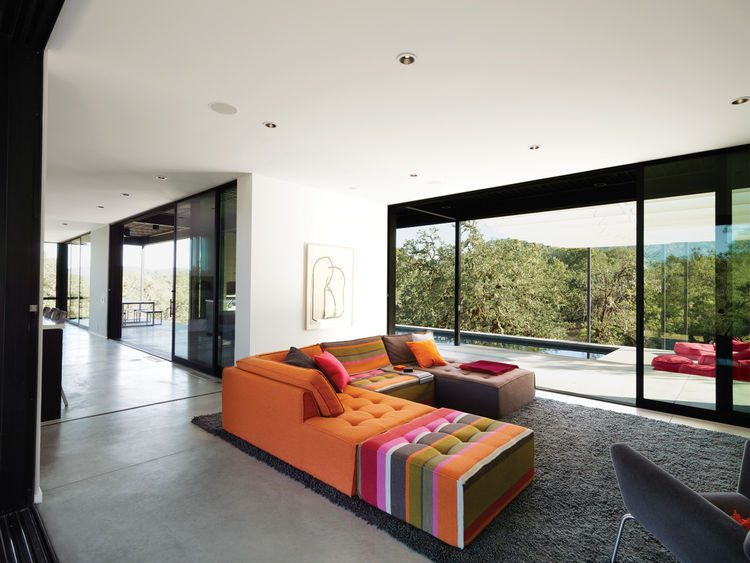 Modern Prefab Home With Colorful And Stylish Decor
