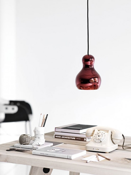Stylish Pumpkin Shaped Lacquered Lamp