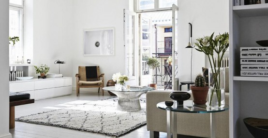 Stylish Scandinavian Apartment With A Mid-Century Vibe