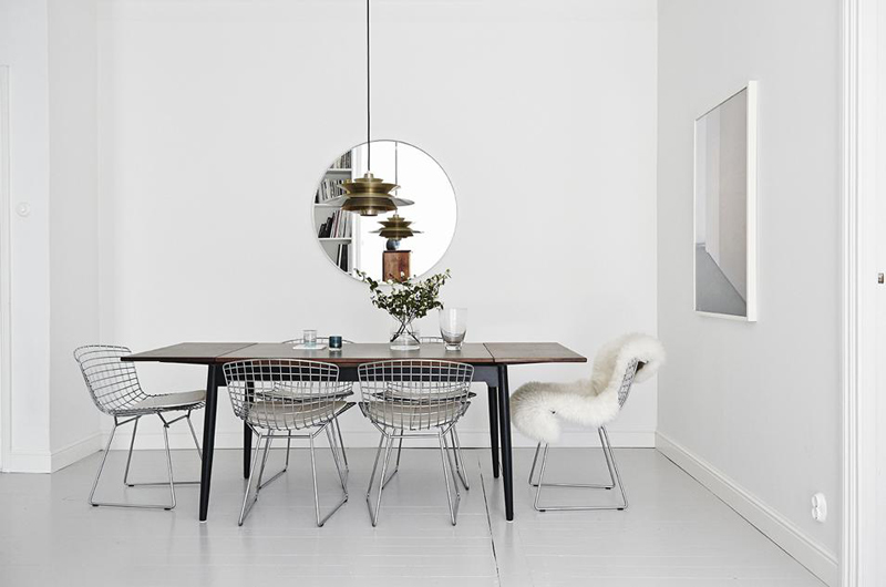 lovely airy scandinavian and mid century modern apartment digsdigs | Stylish Scandinavian Apartment With A Mid-Century Vibe ...