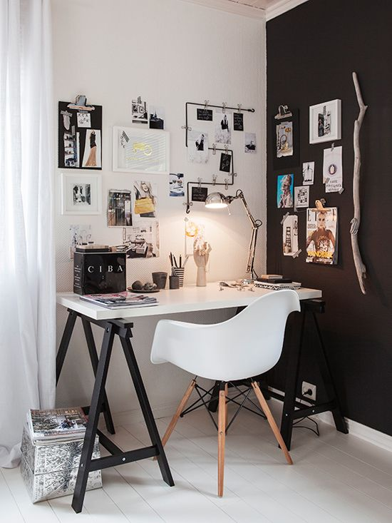 50 stylish scandinavian home office designs digsdigs for Trendy office design