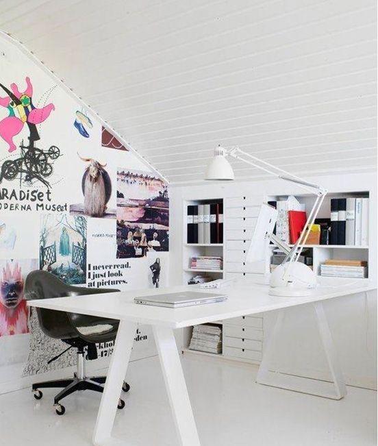 scandinavian office design. Stylish Scandinavian Home Office Designs Design A