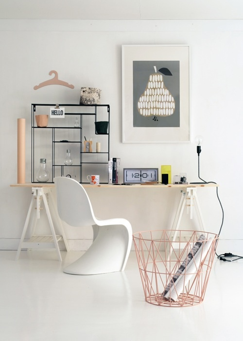 50 Stylish Scandinavian Home Office Designs - DigsDigs
