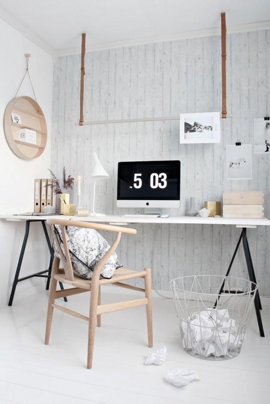 50 stylish scandinavian home office designs