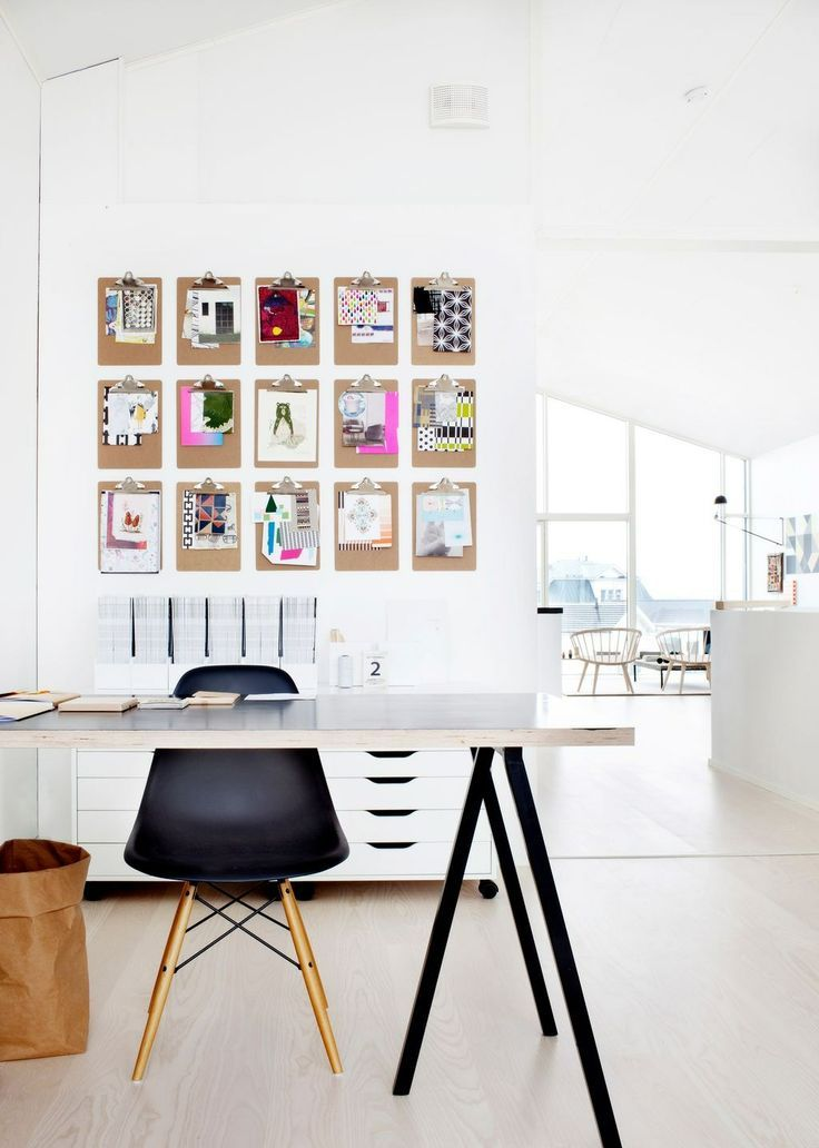50 stylish scandinavian home office designs digsdigs - Home office design ...