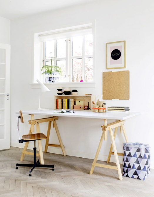 stylish scandinavian home office designs - Scan Design Desk