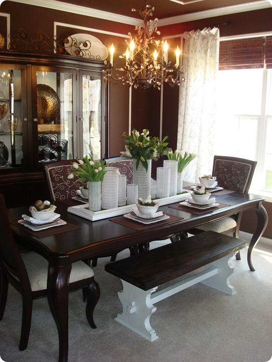 61 stylish and inspirig spring table decoration ideas for Decorating your dining room table
