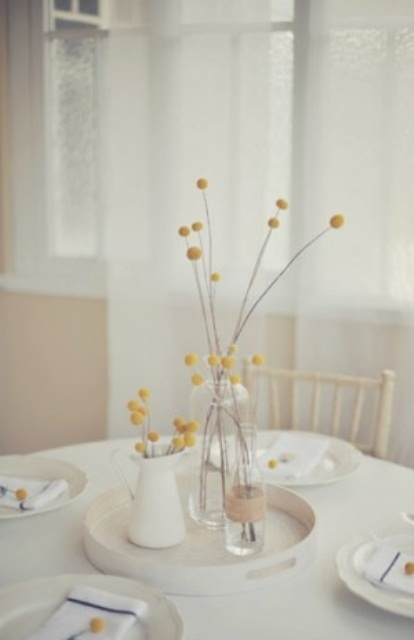 a fresh spring centerpiece with billy ball centerpieces