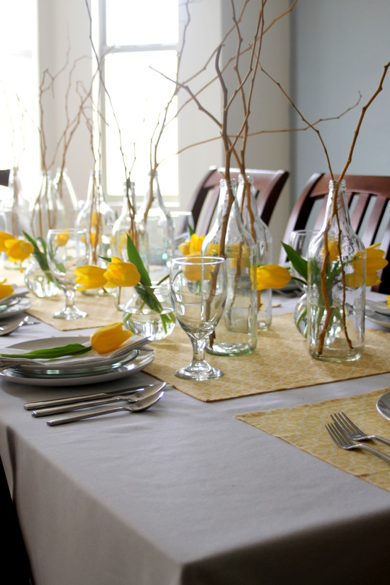 stylish spring table settings - Table Decoration