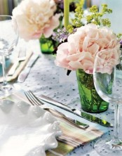 pastel blooms are always a nice idea to add a spring feel to your table