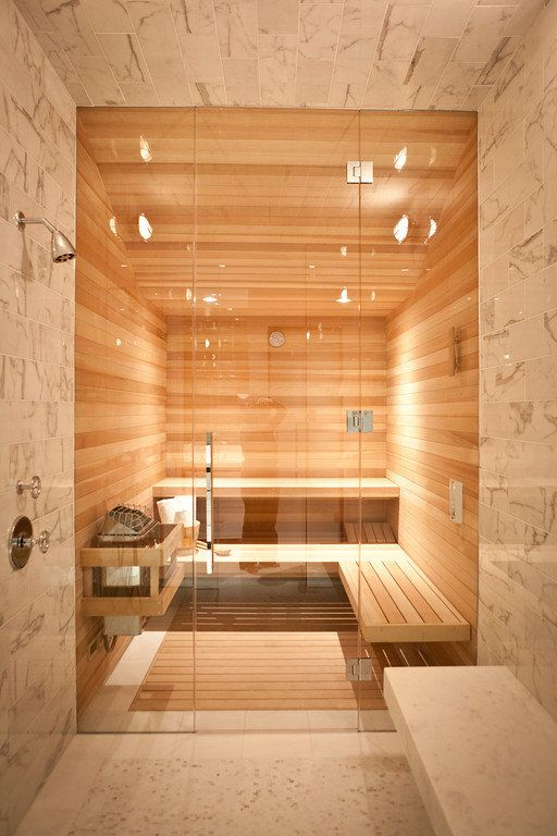 A Bit Of Luxury: 35 Stylish Steam Rooms For Homes - DigsDigs